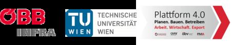 Logo ÖBB Infra - TU Wien - Plattform 4.0