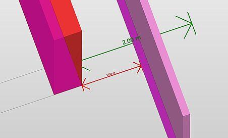 Horizontale Abstandskontrolle mit der FreeStandingRule