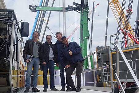 Prof. Goger und sein Team, (Gerald Goger, Christoph Winkler, Lukas Steinschaden, Leopold Winkler, v.l.n.r.)