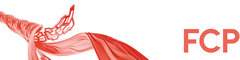 Logo in Form eines geschwungenen Bandes mit FCP-Schriftzug